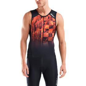 2XU Perform Koszulka triathlonowa Mężczyźni, czarny/pomarańczowy